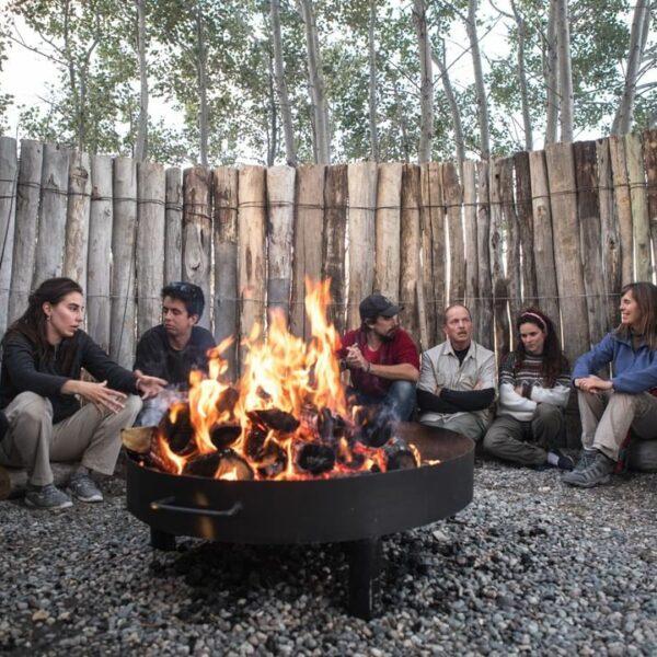 Bonfire at Posta Los Toldos - Patagonia National Park, Argentina. (Credit: Fundación Flora y Fauna Argentina)