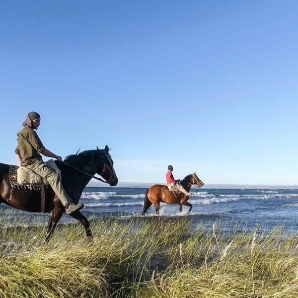 Horseriding on the shore of Lake Buenos Aires. La Ascensión. (Credit: Fundación Flora y Fauna Argentina)